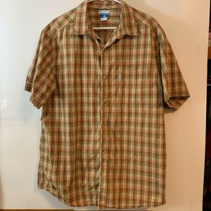 Columbia Shirt, Short Sleeved, Button Up, Plaid
